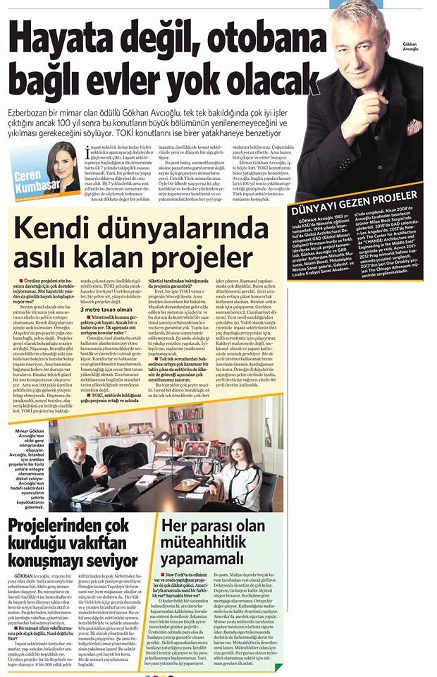 Vatan Newspaper Ceren Kumbasar interview