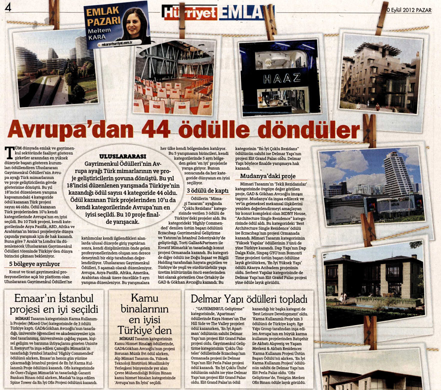 Hurriyet _GAD& International Property Awards