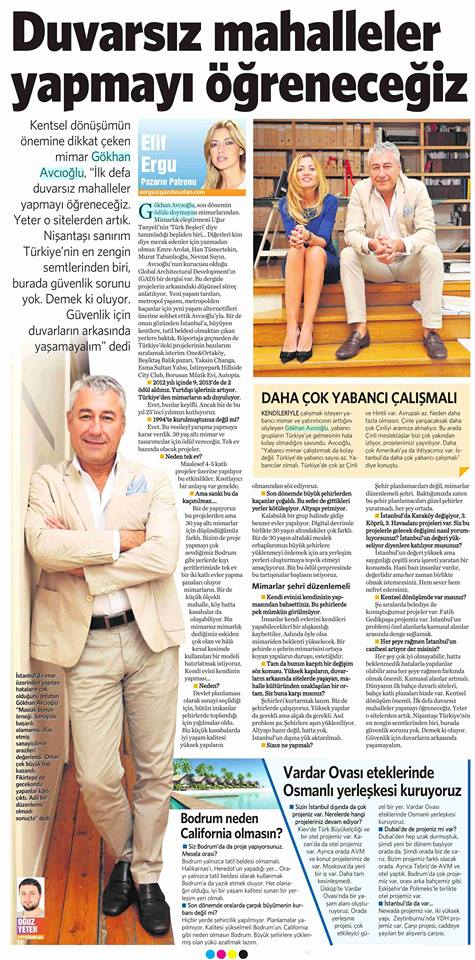 Vatan Newspaper Elif Ergu interview