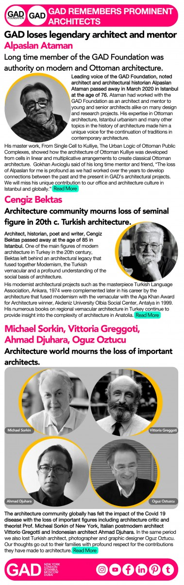 GAD Remembers Prominent Architects